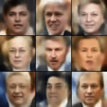 Variational autoencoder applied to faces.